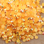 AB Orange - 1000 2mm 3mm 4mm 5mm or 100 6mm Jelly AB Flatback Resin Rhinestones Candy Cab Nail Art / DIY Deco Bling Kit Embellishment-- lovekitty