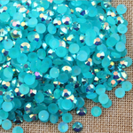 AB Teal - 1000 2mm 3mm 4mm 5mm or 100 6mm Jelly AB Flatback Resin Rhinestones Candy Cab Nail Art / DIY Deco Bling Kit Embellishment-- lovekitty