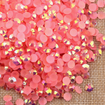AB Dark Pink - 1000 2mm 3mm 4mm 5mm or 100 6mm Jelly AB Flatback Resin Rhinestones Candy Cab Nail Art / DIY Deco Bling Kit Embellishment-- lovekitty