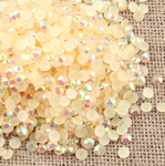 AB Champagne - 1000 2mm 3mm 4mm 5mm or 100 6mm Jelly AB Flatback Resin Rhinestones Candy Cab Nail Art / DIY Deco Bling Kit Embellishment-- lovekitty