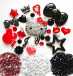 DIY 3D Blinged out Hello Kitty Kawaii Cabochons Deco Kit / Set 268 -- lovekitty
