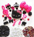 DIY 3D Blinged out Hello Kitty Kawaii Cabochons Deco Kit / Set Z269 -- lovekitty
