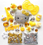 DIY 3D Blinged out Hello Kitty Kawaii Cabochons Deco Kit / Set Z261 -- lovekitty