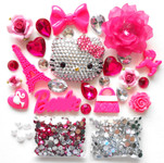 DIY 3D Blinged out Hello Kitty Kawaii Cabochons Deco Kit / Set Z260 -- lovekitty