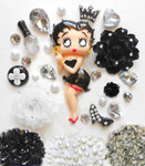 DIY Betty Boop Bling Bling Flatback Resin Cabochons Kawaii Deco Kit / Set Z249 --- lovekittybling