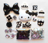 DIY 3D Hello Kitty Bling Resin Flat back Kawaii Cabochons Deco Kit Z246 -- lovekittybling