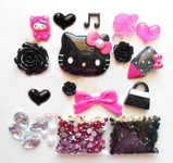 DIY 3D Hello Kitty Bling Resin Flat back Kawaii Cabochons Deco Kit Z245 -- lovekittybling