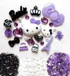 DIY 3D Hello Kitty Bling Resin Flat back Kawaii Cabochons Deco Kit Z234 -- lovekittybling