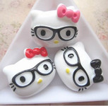 3 pc Cute Japanese Kawaii Flat Back Resin Cabochons c0006 -- lovekitty