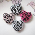 4 pc Cute Japanese Kawaii Flat Back Resin Cabochons  -- lovekitty