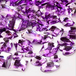 30 pcs Lavender Flat Back Mixed Sizes Gems-- lovekittybling