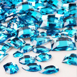 30 pcs Lake Blue Flat Back Mixed Sizes Gems-- lovekittybling