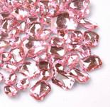 30 pcs Light Pink Cut Back Mixed Sizes Gems-- lovekittybling