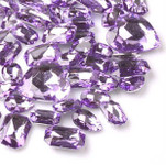 30 pcs Lavender Cut Back Mixed Sizes Gems-- lovekittybling
