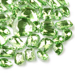 30 pcs Light Green Cut Back Mixed Sizes Gems-- lovekittybling