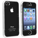 2 Pieces snap on transparent Crystal Clear Case For Apple iPhone 4 4G --- www.lovekittybling.com