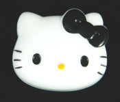 Black Bow --- 1 piece Large Hello Kitty Face Flatback Resin Kawaii Cabochon