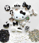 DIY 3D Hello Kitty Bling Resin Flat back Kawaii Cabochons Deco Kit Z225 --- lovekitty