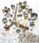 DIY 3D Eiffel Tower Bling Bling Resin Flat back Kawaii Cabochons Deco Kit Z230 --- www.lovekittybling.com