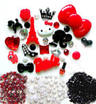 DIY 3D Hello Kitty Bling Resin Flat back Kawaii Cabochons Deco Kit Z227 --- www.lovekittybling.com