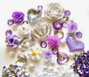 DIY 3D Rhienstone Crown Bling Bling Flatback Resin Cabochons Kawaii Deco Kit / Set Z015 --- by lovekitty