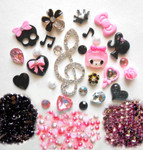 DIY 3D Music Note Bling Bling Flatback Resin Cabochons Kawaii Deco Kit / Set Z270 --- by lovekitty
