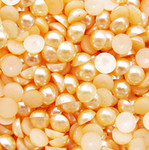 Gold  --- 14mm --- 25 pieces flat back pearl cabochons --- lovekitty