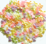 30 Pcs Mixed Colors BowShape Flatback Pearl Cabochon -- by lovekittybling