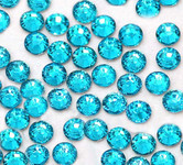 Turquoise --- 4mm 1000 pcs ---Rhinestones Round Flat back 14-facet ( High Quality ) --- lovekitty