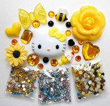 DIY 3D Hello Kitty Bling Resin Flat back Kawaii Cabochons Deco Kit Z340  ( not a finished product )--- lovekitty