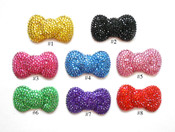 1 pc 3D Blinged Out Large Size Round Hello Kitty BOW ----  lovekittybling