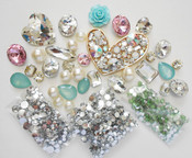 DIY 3D Heart Crystal Gems Bling Bling  Deco Kit Z360 -- lovekittybling