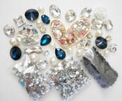 DIY 3D Pink Heart Crystal Gems Bling Bling  Deco Kit Z359 -- lovekittybling