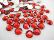 Red  --- 5mm 1000 pcs ---Rhinestones Round Flat back 14-facet ( High Quality ) --- lovekitty