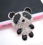 1 pc Panda Bear Bling Bling Piece -- by lovekitty