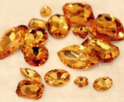 Gold  --- 10 pcs Mixed Shapes lot Cut Back Crystal Glass Gems  ---- lovekittybling