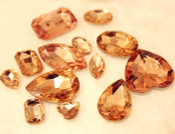 Champagne --- 10 pcs Mixed Shapes lot Cut Back Crystal Glass Gems  ---- lovekittybling