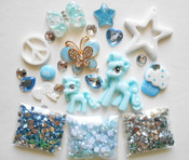 DIY Bling Bling Phone Case Flatback Cabochons Kawaii Deco Kit  / Set  Z358 ---  lovekittybling