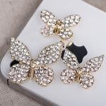 3 pieces Rhienstone butterflies set Bling Bling Piece --- by lovekittybling