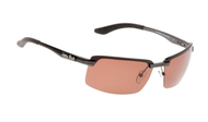 Ugly Fish Triacetate(TAC) Polarised Sunglasses PT24409 Gun Metal Aluminium Frame Brown Lens