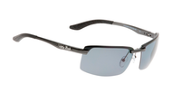 Ugly Fish Triacetate(TAC) Polarised Sunglasses PT24409 Gun Metal Aluminium Frame Smoke Lens