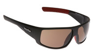 Ugly Fish Triacetate(TAC) Polarised Sunglasses PT6881 Matt Black TR90 Frame Brown Lens