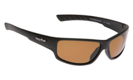 Ugly Fish Triacetate(TAC) Polarised Sunglasses PT9400 Matt Black TR90 Frame Brown Lens