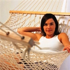Oztrail Queen Resort Mexican Hammock with Brazilian Timber Rails