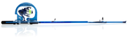Force Ten Spin Fishing Combo  ( color Blue ) 6'