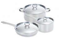 Oztrail 3 Piece Stainless Steel Saucepan Set