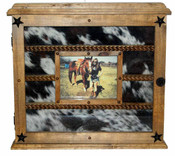 14 Buckle Display Cowhide - Glass Door Front