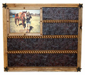 Buckle Display with Picture Frame Great for Rodeo Awards and Barrel Racing Awards