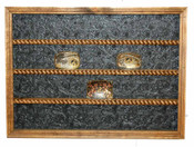 24 Buckle Display with Black Faux Backing Great for Rodeo Awards and Barrel Racing Awards