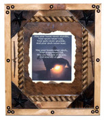 Framed Cowboy Prayer with Cowhide Back